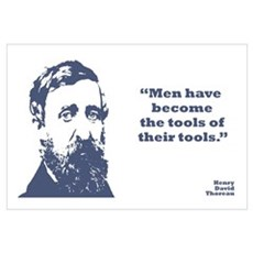 Thoreau - Tools Wall Art Framed Print
