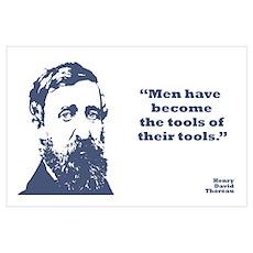 Thoreau - Tools Wall Art Poster