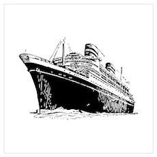 Ocean Liner Ship Wall Art Poster