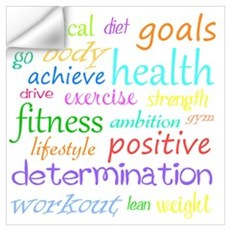 Fitness Collage Wall Art Wall Decal