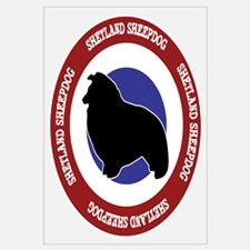 Shetland Sheepdog Bullseye Wall Art