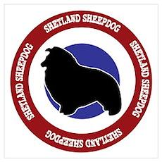 Shetland Sheepdog Bullseye Wall Art Poster