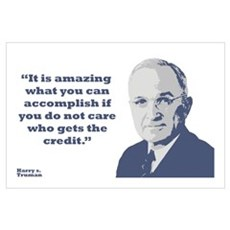 Truman - Credit Wall Art Poster