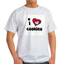I Love Cookies Ash Grey T-Shirt