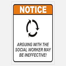 Social Worker / Argue Wall Art