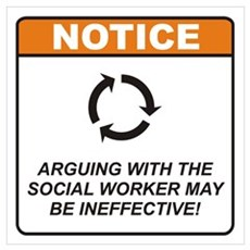 Social Worker / Argue Wall Art Poster