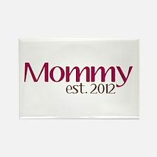 Mommy Est 2012 Rectangle Magnet