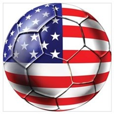 U.S. Soccer Ball Wall Art Framed Print