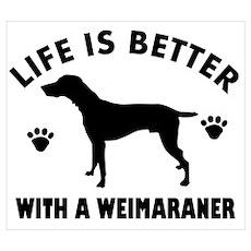 Weimaraner breed Design Wall Art Poster
