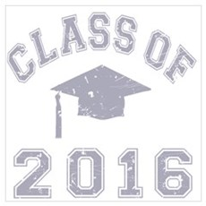 Class Of 2016 Graduation Wall Art Canvas Art