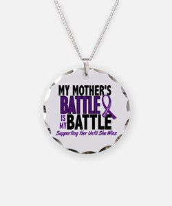 My Battle Too Pancreatic Cancer Necklace Circle Ch