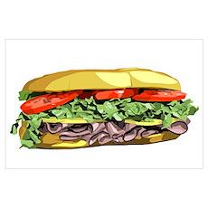 sandwich Wall Art Poster