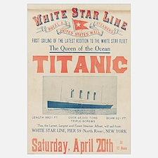 Titanic Advertising Card Wall Art