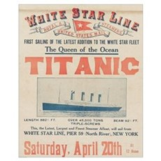 Titanic Advertising Card Wall Art Canvas Art