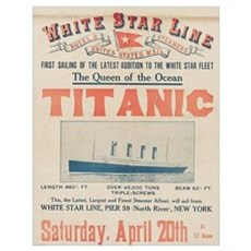 Titanic Advertising Card Wall Art Poster