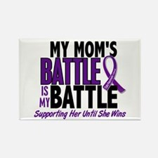 My Battle Too Pancreatic Cancer Rectangle Magnet (