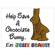 Save A Bunny Wall Art Poster