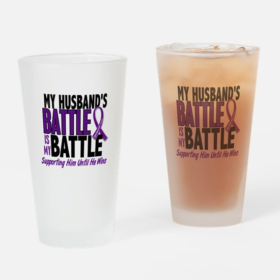 My Battle Too Pancreatic Cancer Drinking Glass