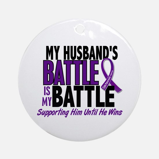 My Battle Too Pancreatic Cancer Ornament (Round)
