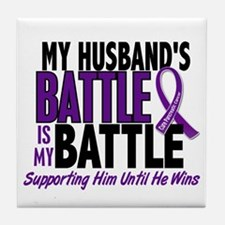 My Battle Too Pancreatic Cancer Tile Coaster