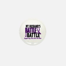 My Battle Too Pancreatic Cancer Mini Button (10 pa