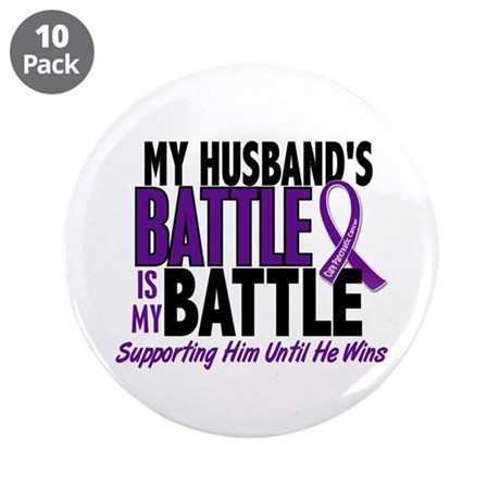 "My Battle Too Pancreatic Cancer 3.5"" Button (10 pa"