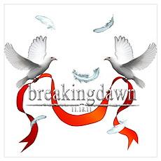 Breakingdawn White Doves Wall Art Poster
