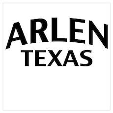 Arlen Texas Wall Art Poster