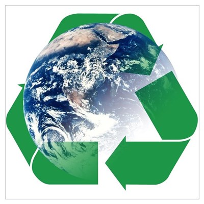 Recycle the Earth Wall Art Poster