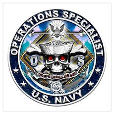 USN Operations Specialist Sku Wall Art Poster