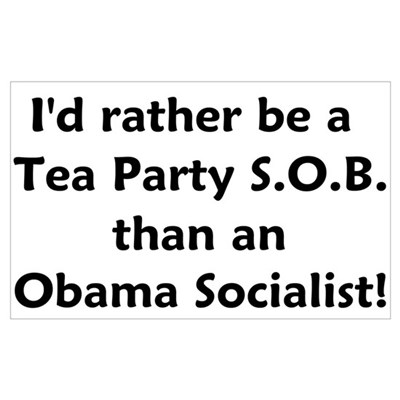 Tea Party SOB Wall Art Canvas Art