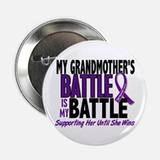"""My Battle Too Pancreatic Cancer 2.25"""" Button"""