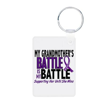 My Battle Too Pancreatic Cancer Aluminum Photo Key