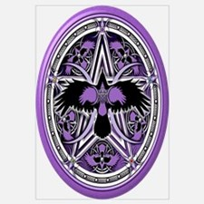Purple Crow Pentacle Wall Art