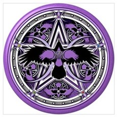 Purple Crow Pentacle Wall Art Poster