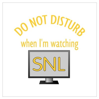 Do Not Disturb Watching SNL Wall Art Framed Print