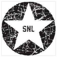 SNL Black Star Wall Art Poster