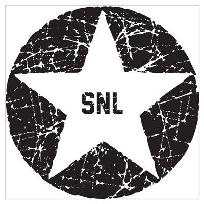 SNL Black Star Wall Art Canvas Art