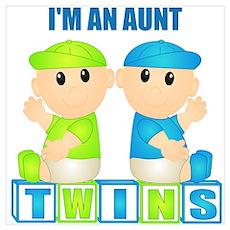 I'm An Aunt (BBB:blk) Wall Art Poster