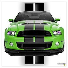 New Mustang Green Wall Art Poster