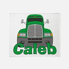 Trucker Caleb Throw Blanket