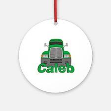 Trucker Caleb Ornament (Round)