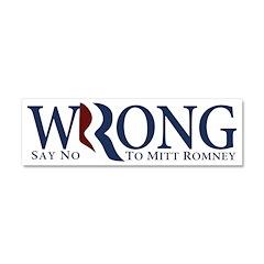 Mitt Romney: WRONG Magnetic Car Sticker