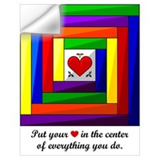 Quilt Square Wall Art Wall Decal