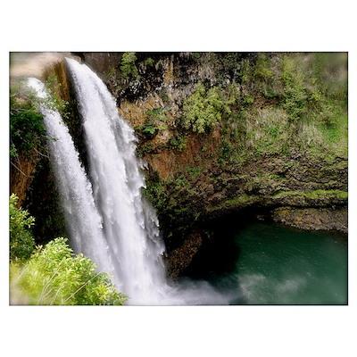 Wailua Falls, Kauai, Hi Wall Art Poster