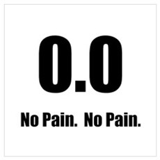 No Pain Wall Art Poster