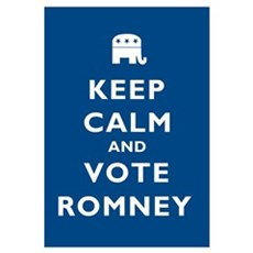 Keep Calm And Vote Romney Wall Art Framed Print