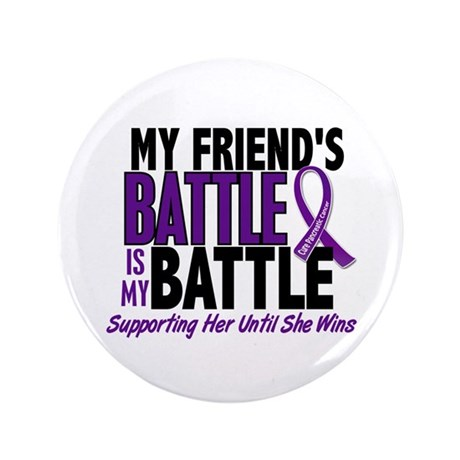 "My Battle Too Pancreatic Cancer 3.5"" Button"