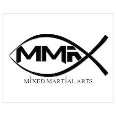 MMA Fish Wall Art Poster
