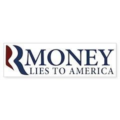 RMoney: Romney Lies Bumpersticker
